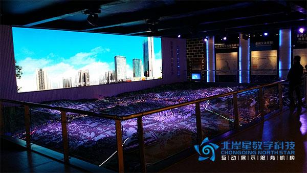遵义市习水县城市规划展厅沙盘多媒体触摸屏系统及led图片